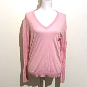 J Crew V Neck Long Sleeve Cotton Pullover Sweater